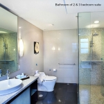 Bathroom two bedroom apartment suite